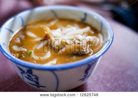 A bowl of laksa