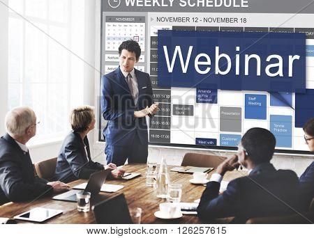 Webinar Website Online Internet Netwoking Concept