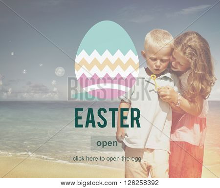 Easter Bunny Rabbit Spring Season Tradition Egg Concept