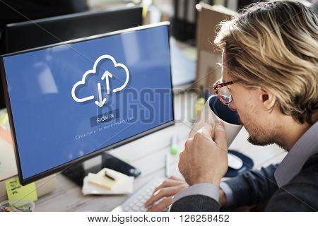 Cloud Storage Communication Online Technology Concept