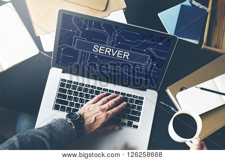 Server Online Technology Storage Software Concept
