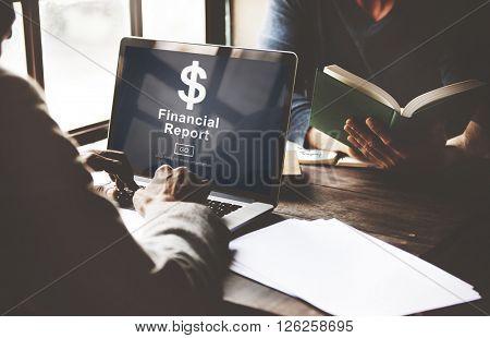 Financial Report Dollar Sign Go Concept