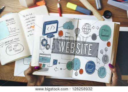 Website Homepage Global Communication Technology Concept