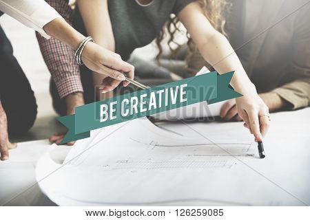 Be Creative Design Innovation Inspiration Concept