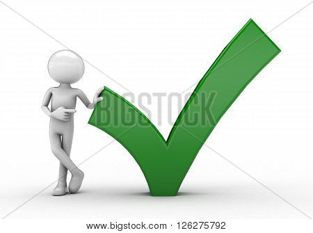 Green Check Mark white background image soft shadow