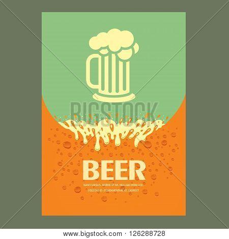 beer cover design template card menu splash