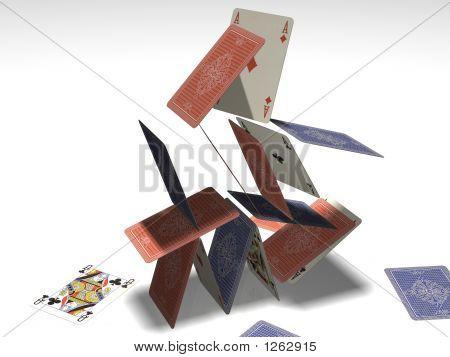 Card Pyramid Collapsing