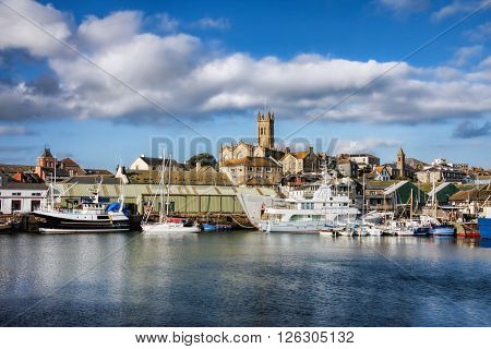 Marina With Boats In Penzance, Uk