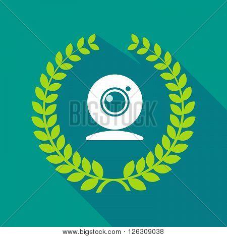 Long Shadow Laurel Wreath Icon With A Web Cam
