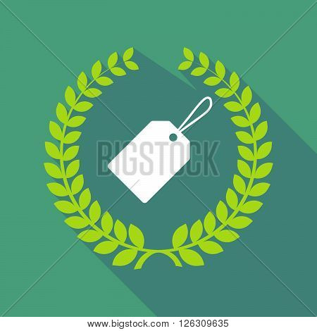 Long Shadow Laurel Wreath Icon With A Label