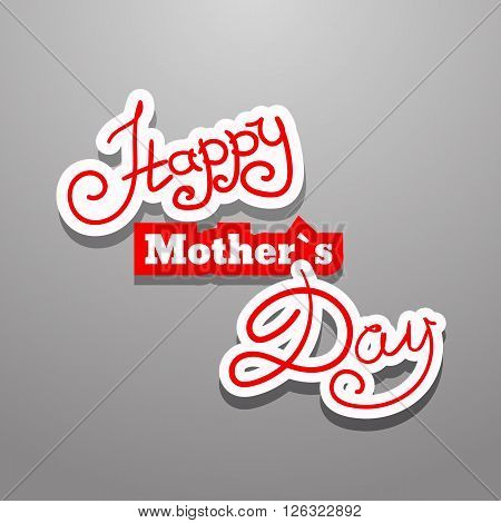 Text Mother's Day Background Vector Eps 10