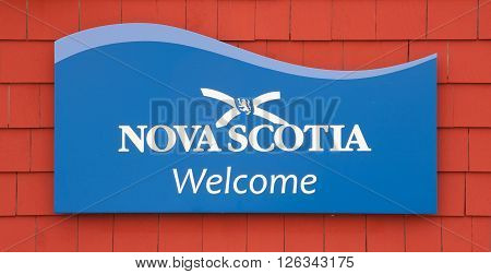 PEGGYS COVE CANADA - APRIL 18 2016: Nova Scotia is a maritime province of Canada with a population of approximately 922000. Halifax is the capital of Nova Scotia.