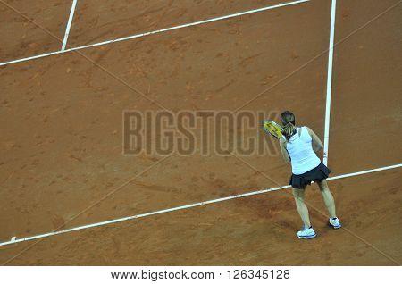 Double Woman Tennis Match