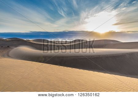 Maspalomas Sand Dunes During Sunrise - Maspalomas Gran Canaria Canary Islands Spain