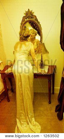 Grunge Bride In Vintage Dress