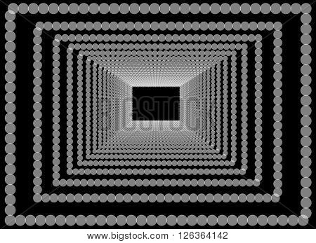 Abstract geometric background with aberration effect. Optical illusion texture