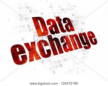 Data concept: Data Exchange on Digital background