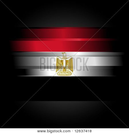 Abstract Raster Egypt Flag On Black Background