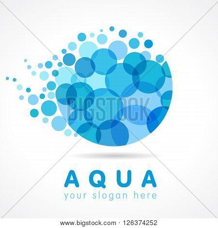 Mineral natural water vector icon design. Aqua water drop logo