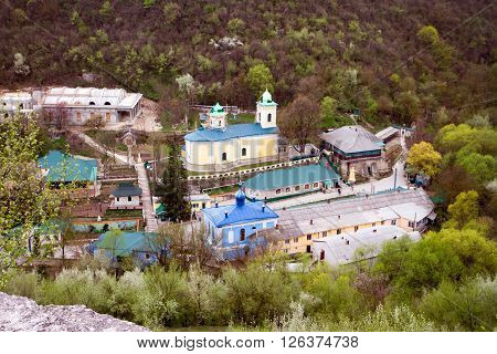 Ancient monastery. Beauty village Saharna winter of Moldova ** Note: Soft Focus at 100%, best at smaller sizes