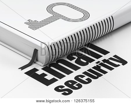 Protection concept: book Key, Email Security on white background