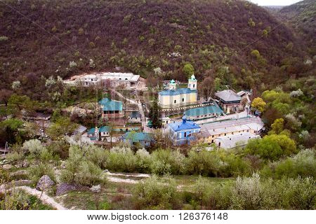 Ancient monastery. Village Saharna winter of Moldova ** Note: Soft Focus at 100%, best at smaller sizes