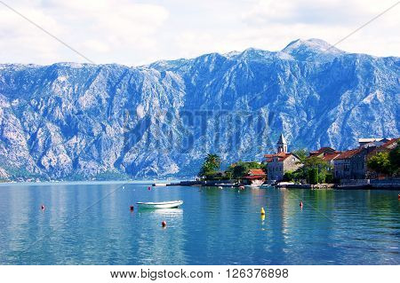 View of the village of Donji Stoliv in Montenegro ** Note: Soft Focus at 100%, best at smaller sizes