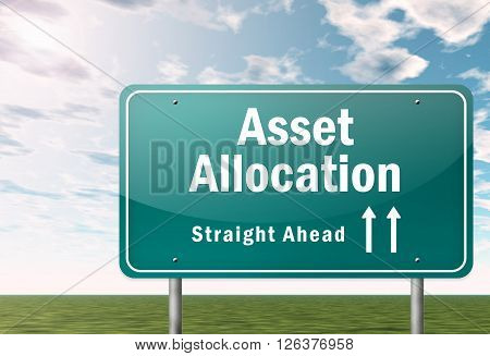 Image Photo Signpost with Asset Allocation wording