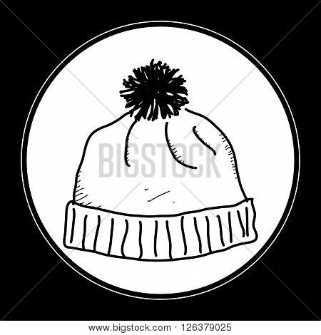 Simple Doodle Of A Bobble Hat