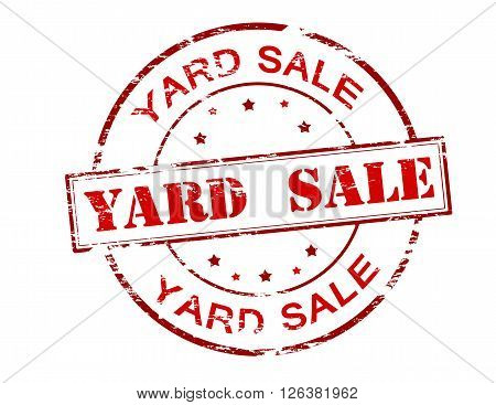 Rubber stamp with text yard sale inside vector illustration