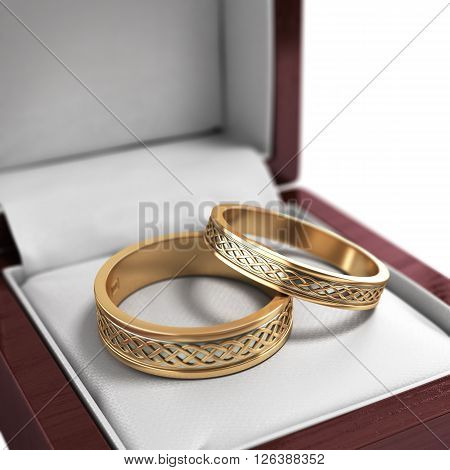 Wedding Bands, Wedding Rings In The Red Box, Wedding Jewelry, Wedding Preparation, Wedding Rings Box