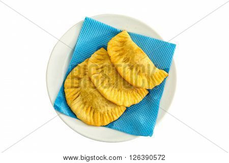 pastry argentinian empanadas 3 on white background