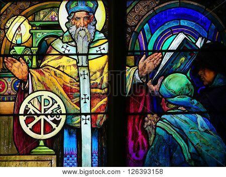 Stained Glass - Saint Methodius