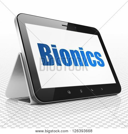 Science concept: Tablet Computer with Bionics on display