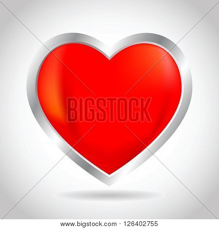 Vector stock of 3D heart and love icon
