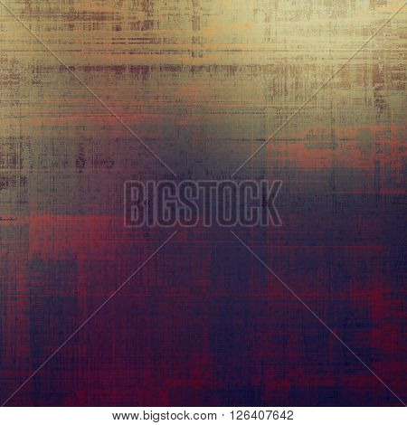 Aged grunge graphic background with shabby texture in vintage style. With different color patterns: brown; gray; red (orange); purple (violet); pink