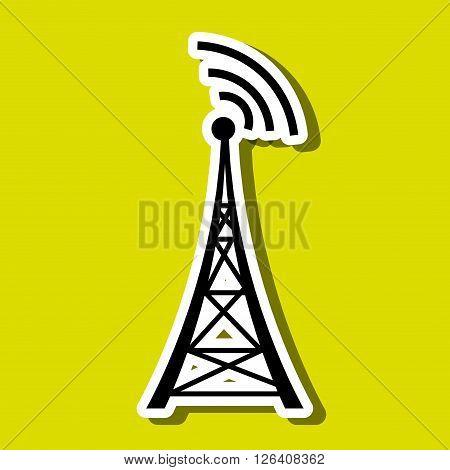 transmitting satellite design, vector illustration eps10 graphic