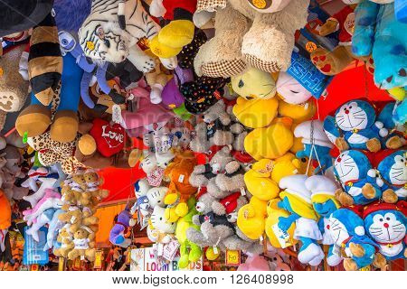 Collection Of Cuddly Animals