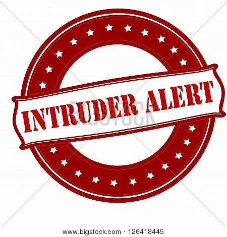 Rubber stamp with text intruder alert inside vector illustration