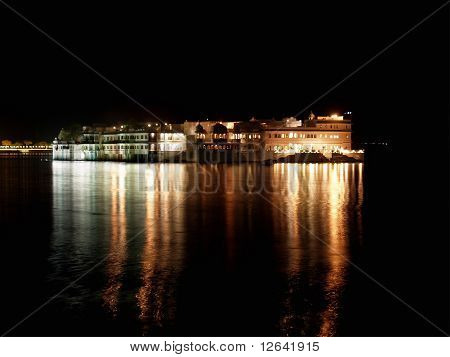 Udaipur Lake Palace At Night