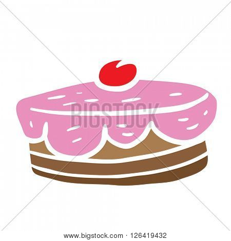 cherry cake cartoon