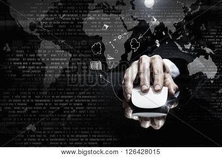 Businessman using mouse