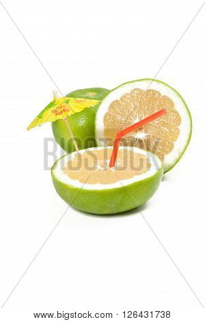 Picture of healthy cocktail isolated on white