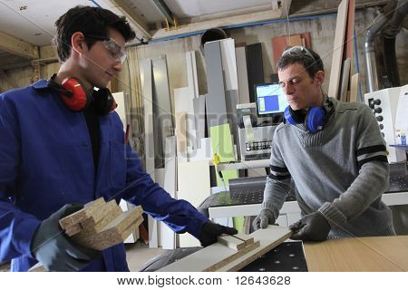 Carpenter and apprentice