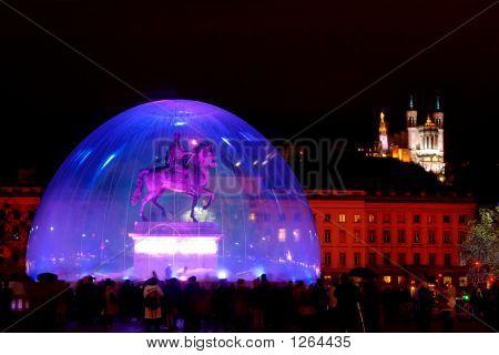 Bellecour Square During Light Fest (Lyon, France)