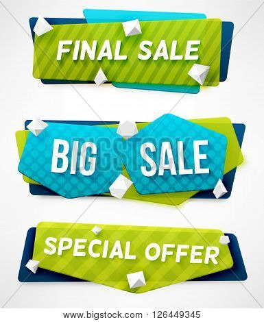 Final Sale Banner. Big Sale Banner. Special Offer Banner. Abstract Banner Templates. poster