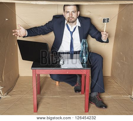 Drunk Businessman Is Irresponsible