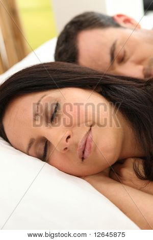 Portrait of a sleeping couple