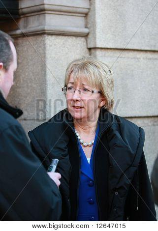 Minister Mary Hanafin arriving at Dail Eireann