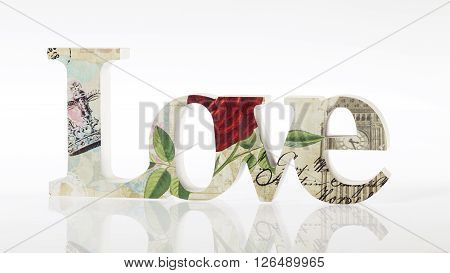 LOVE - home decoration isolated on white